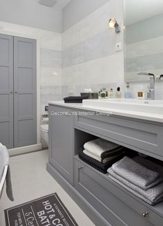 Férfias szürke fürdőszoba