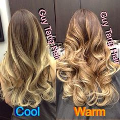 Cool or Warm Tone Ombre?