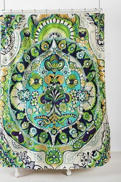 Painted Mandala Shower Curtain - Urban Outfitters