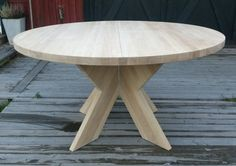 Delbart bord i 40 mm massiv obehandlad ek