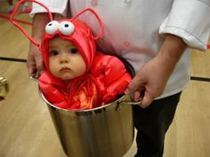 29 scary halloween costumes for kids!DIY Halloween costumes for kidsno sewing necessary! internet at large there are so many great ideas for DIY Halloween costumes out there. So Cute Baby, Cute Kids, Lil Baby, Baby Kids, Baby Momma, Kids Diy, Halloween Kostüm Baby, Halloween Mignon, Lobster Halloween