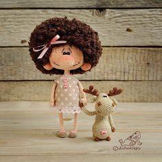 Еще одна лохматая девочка и ее лось Хороших вам выходных! #дубоклёпы_куклы