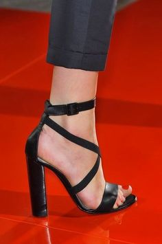 Usually don't like heels this thick, but the straps make them look more dainty.