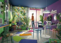Colors in your home! Tropical Style, Curtains, Ornaments, Winter, House, Design, Home Decor, Decor Ideas, Environment