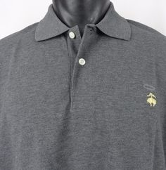 NWT Brooks Brothers Slim Fit Mens XL Polo Shirt Performance Gray SS Cotton New #BrooksBrothers #Polo