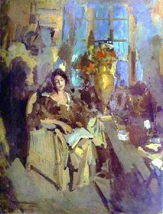 Portrait of a Woman (1912). Konstantin Korovin (Russian, 1861-1939). Oil on canvas. National Gallery of Armenia.