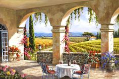 Wine Country Terrace by Sung Kim 37908