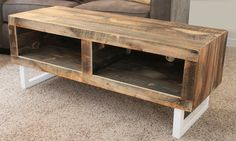 Reclaimed Wood Media Console - White Tube Steel Legs Custom Requests - Contact Us or info@jwatlaswoodco.com Call or text directly - 970-449-3322 Production Time of 5-6 Weeks • CUSTOM SIZES AVAILABLE U