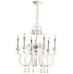 parisian wood zinc 6 arm chandelier chandeliers restoration