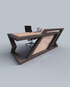 Welded Furniture, Iron Furniture, Steel Furniture, Industrial Furniture, Furniture Design, Office Table Design, Wood Table Design, Modern Desk, Modern Table