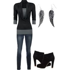 """""""black and fancy"""" by karlibugg on Polyvore"""
