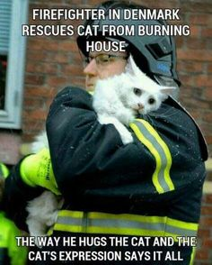 Thank you firefighters who rescue the smallest family members too!