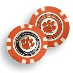 Clemson Tigers Golf Chip with Marker - Bulk