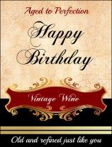 Free printable Wine bottle label go to thewinecrafter.com for free printable 3x4 Birthday label for a Wine bottle for your friend or family members birthday!