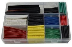 URBEST® 300Pcs 2:1 Heat Shrink Tubing Tube Sleeving Wrap Cable Wire 6 Color 11Size
