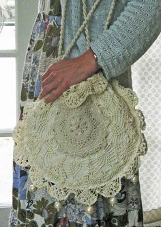Got Doilies? Make your own Ralph Lauren Look-a-like, Crochet Purse.