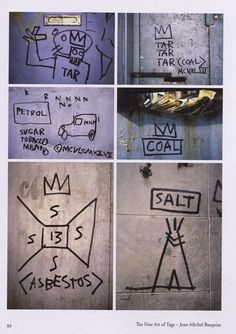 Basquiat tags. by Martha Cooper