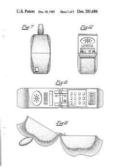 Apple iPhone Design Patent from 1985 on http://www.drlima.net
