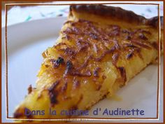Grated Lemon Apple Pie - In the Kitchen of Audinette - - French Apple Cake, Easy Apple Cake, Apple Cake Recipes, Tart Recipes, Veg Recipes, Mousse Au Chocolat Torte, Apple Deserts, Jewish Apple Cakes, Sweet Pie