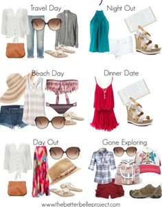 Ready, Set, Break: Spring Break Packing List. Cross things off your list as you pack them away in your suitcase!