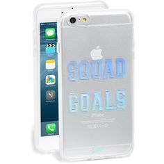 Sonix 'Squad Goals' iPhone 6 Plus & 6s Plus Case ($35) ❤ liked on Polyvore featuring accessories, tech accessories, phone cases, celulares, phone and silver