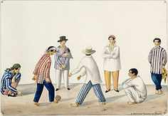 Indios jugando sipa, 1847