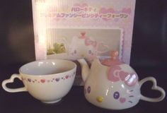 RARE Sanrio Hello Kitty Face Tea Pot Cup Fancy Pink Ceramic Kawaii Japan | eBay