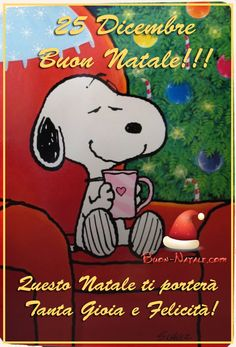Snoopy Christmas, Christmas Wishes, Christmas Time, Happy Day, Good Day, Congratulations, Greeting Cards, Disney, Italy