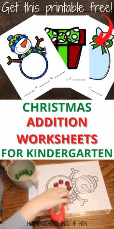 Snowman Addition and Subtraction (Plus a Snowman Addition Free Printable!) | Homeschooling 4 Him