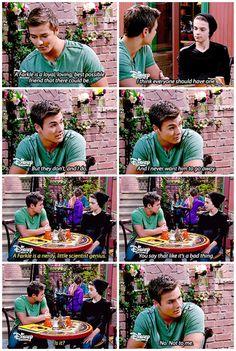 "#GirlMeetsWorld 2x12 ""Girl Meets Yearbook"" - Lucas and Farkle"