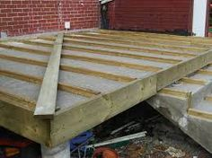 "Image result for wood over ""concrete steps"""