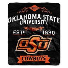 Oklahoma State Cowboys Blanket 50x60 Raschel Label Design Z157-8791821934