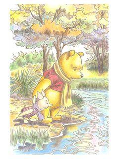 大人の塗り絵 くまのプーさんと森のなかまたち編 プーさんとピグレット