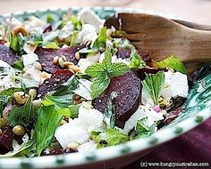 Dining Down Under: Beetroot, Feta, Walnut and Mint Salad - Honest Cooking