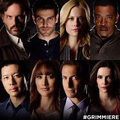 Grimm..top left to right: monroe, nick, adalind, hank, seargent wu, rosalie,sean renard, Juliette