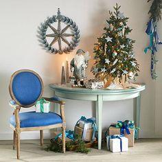 Wisteria - Holiday - Holiday Decor - Trim a Home -  A Burst of Holly Wreath - Silver - $159.00
