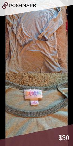Lularoe Small Randy Greenish grayish Excellent Used Condition LuLaRoe Tops Tees - Long Sleeve
