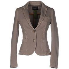 Ianux Blazer ($83) ❤ liked on Polyvore featuring outerwear, jackets, blazers, beige, multi pocket jacket, brown jacket, beige jacket, cotton jacket and long sleeve blazer