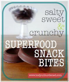 salty sweet crunchy superfood snack bites