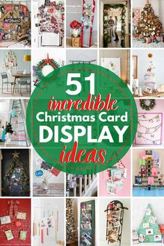 50+ Incredible Christmas Card Display Ideas! If your Christmas cards are laying on your kitchen counter, you are going to LOVE these ideas to display those holiday cards in beautiful ways this season!! Christmas Card Display, Christmas Fun, Christmas Cards, Holiday Crafts, Holiday Decor, Time To Celebrate, Display Ideas, Diy Projects, The Incredibles
