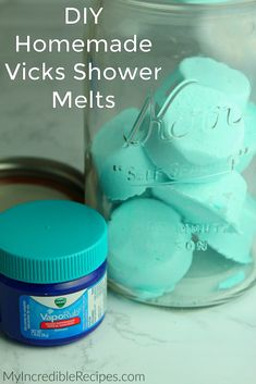 DIY Lavender Bath Bombs Ingredients: This recipe creates about 12 bath bombs. Diy Savon, Savon Soap, Soaps, Diy Hanging Shelves, Floating Shelves Diy, Shower Bombs, Bath Bombs, Mason Jar Crafts, Mason Jar Diy