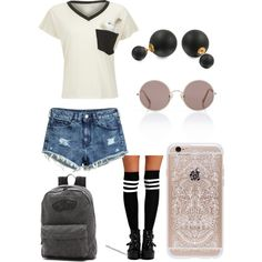 School #1 by ellenks on Polyvore featuring polyvore, fashion, style, Wildfox, H&M, Boohoo, Vans, Bling Jewelry, Rifle Paper Co and Sunday Somewhere