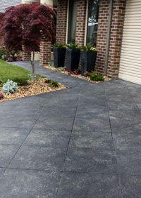 paterned concrete driveways melbourne