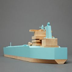 Wooden Toy Ships by Postlerferguson
