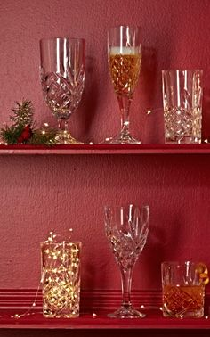 Set a magnificent table with brilliantly etched Crystal Glassware.