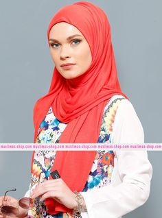 Abbigliameto Halal Islamico Negozio Online  #islamic #hijab #modest #fashion product  Jersey Combed Cotton Shawl - Vermilion - Rabia Z - Fabric Info:  100% Combed Cotton    Weight: 0.226 kg  Sizes:  Width: 75 cm  Height: 200 cm - SKU: 136246. Buy now at http://muslimas-shop.com/jersey-combed-cotton-shawl-vermilion-rabia-z136246.html