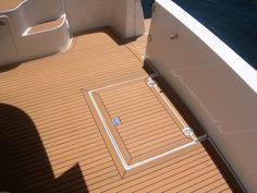 Synthetic teak is a non-porous composite material that looks like natural teak. It is a low maintence, light weighted material. You can use synthetic teak instead of teak wood for your decking. Cummins Diesel Engines, Deck Design, Teak Wood, Decking, Carpentry, Pontoon Stuff, Composite Material, Templates, Flooring