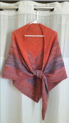 Malibrigo Lace Red Java and Pocion. Big and warm!