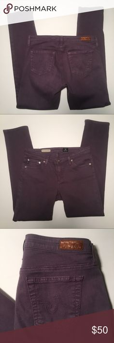 AG Adriano Goldschmied Dusty Purple Stevie ankle The Stevie ankle slim straight ankle jeans in a dusty purple color. Size 28R. Color may vary slightly due to lighting. Ag Adriano Goldschmied Jeans Ankle & Cropped