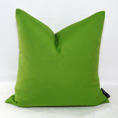 Lime Green Pillow Cover  Outdoor Indoor  Decorative  by Mazizmuse, $45.00